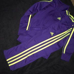 Matching Adidas sweatsuit